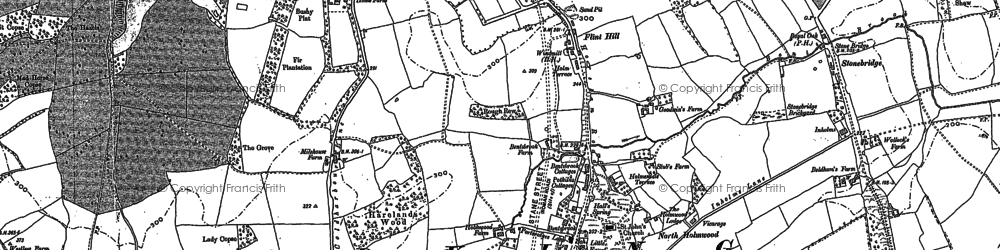 Old map of Tower Hill in 1895