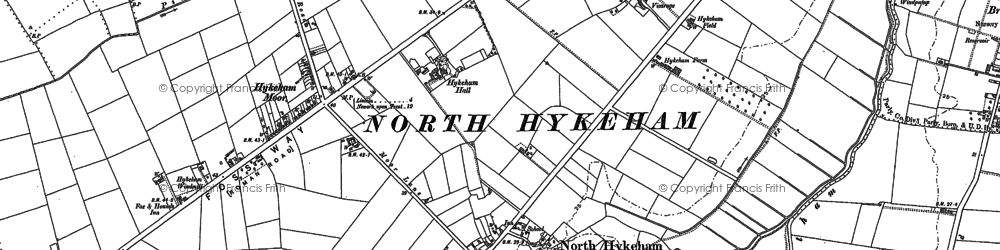 Old map of North Hykeham in 1886