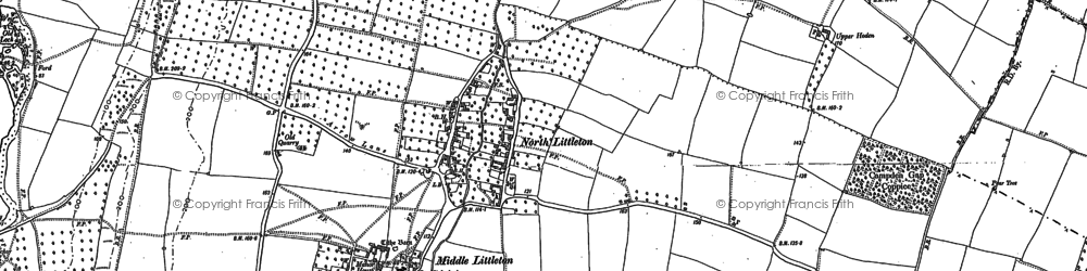 Old map of North Littleton in 1883
