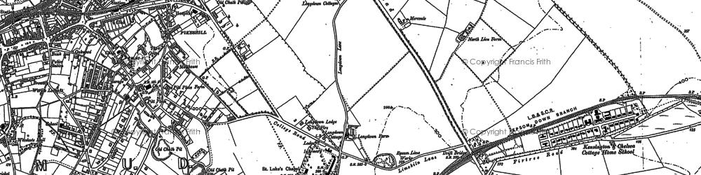 Old map of Drift Bridge in 1894