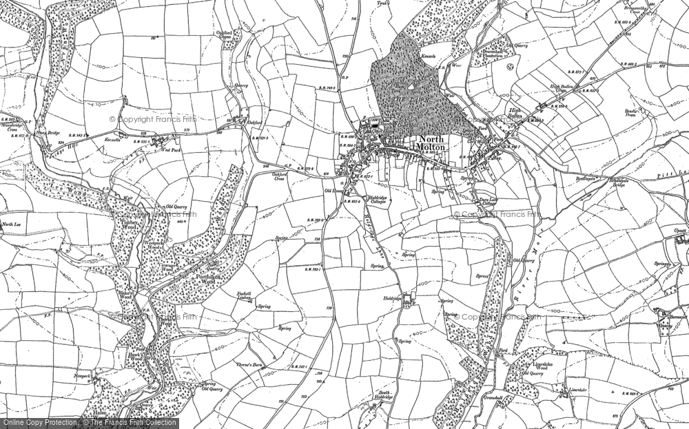 Old Map of North Molton, 1903 in 1903