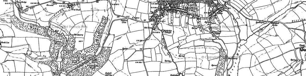 Old map of North Molton in 1903