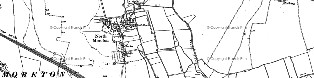 Old map of North Moreton in 1898