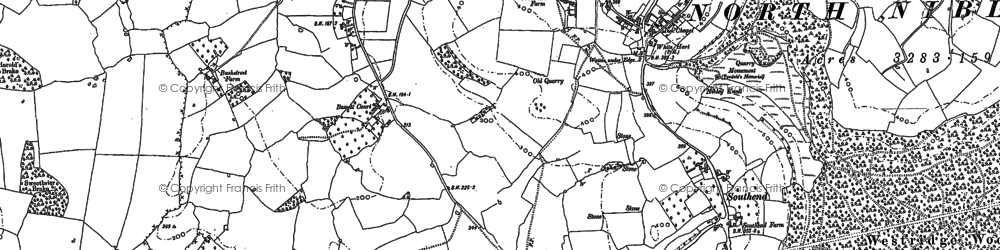 Old map of North Nibley in 1881