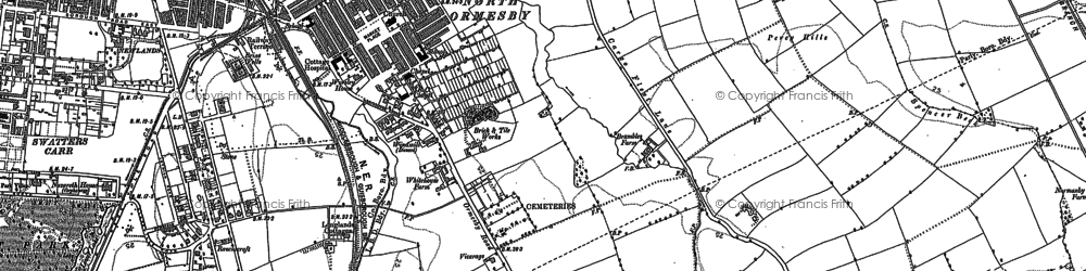 Old map of North Ormesby in 1893