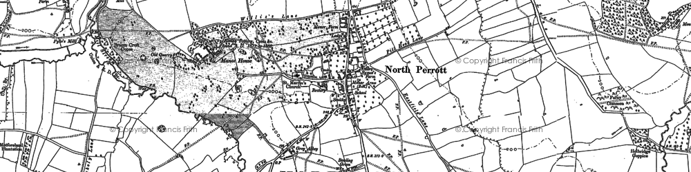 Old map of North Perrott in 1886