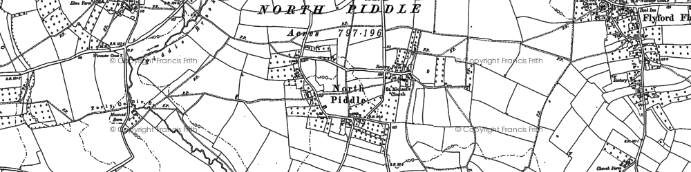 Old map of Libbery in 1884