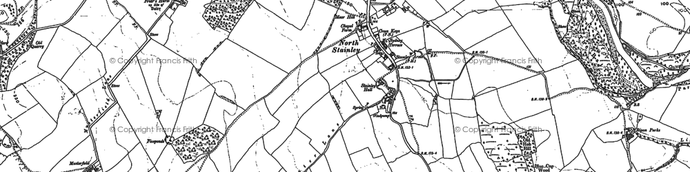 Old map of Lightwater Valley in 1890