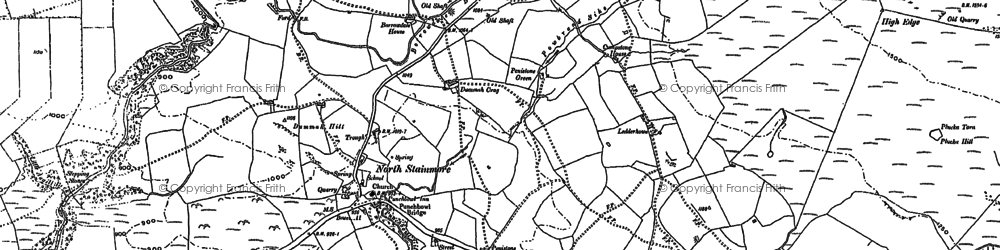 Old map of Banks Gate in 1897