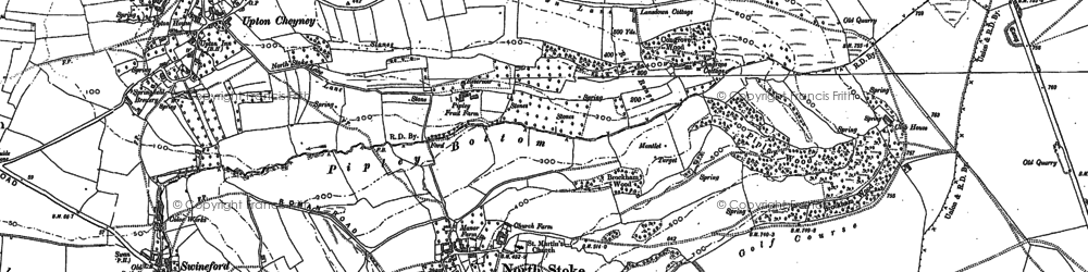 Old map of Brockham End in 1901