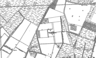 Old Map of North Stow Hall, 1882