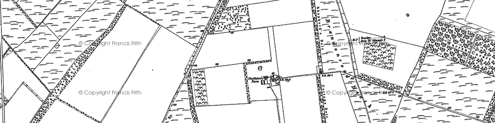 Old map of Weststow Long Plantation in 1882