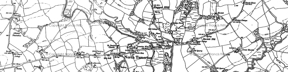 Old map of Affaland Wood in 1883
