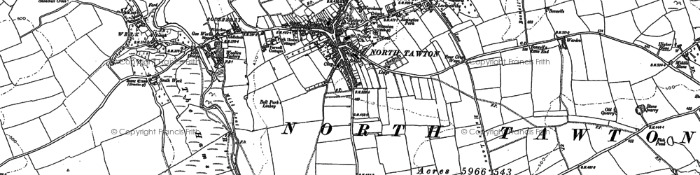 Old map of Ashridge Court in 1886