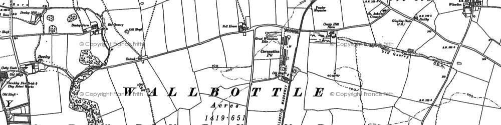 Old map of Whorlton Hall in 1894