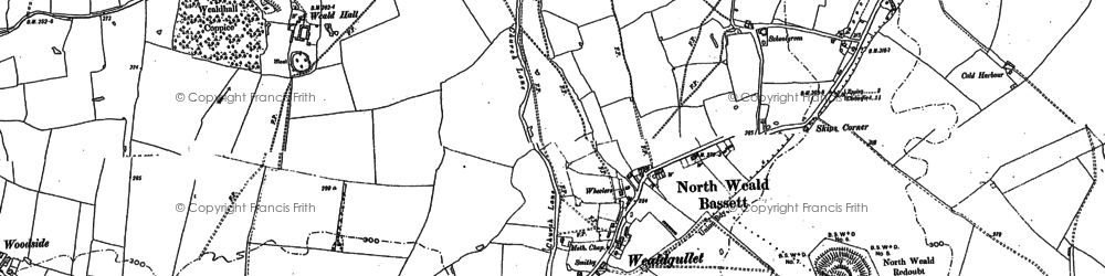 Old map of Wyldingtree in 1895