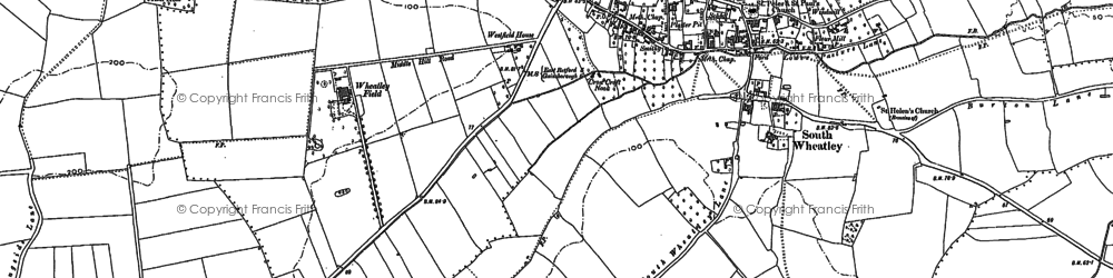 Old map of Wheatley Field in 1898