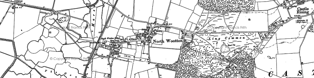 Old map of Wooton Marsh in 1884