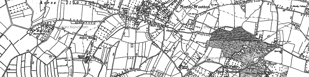 Old map of Whitelake in 1885