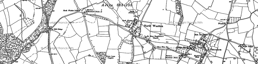 Old map of Westhill Lodge in 1886