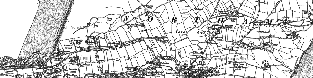 Old map of Northam in 1886
