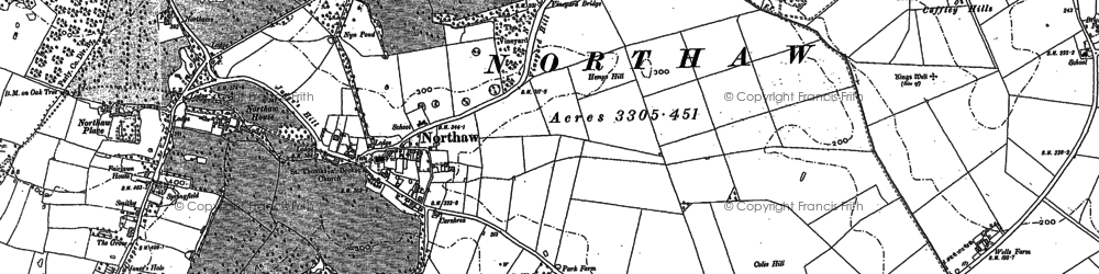Old map of The Ridgeway in 1912