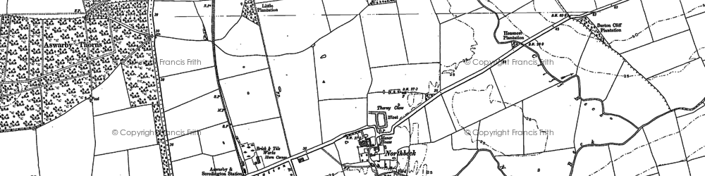 Old map of Willoughby Gorse in 1887