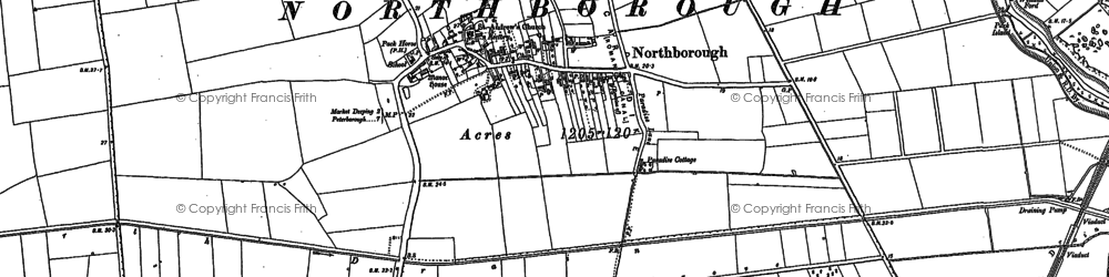 Old map of Northborough in 1899
