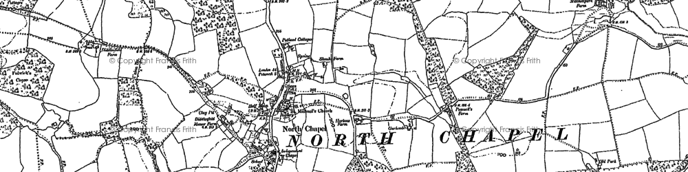 Old map of Northchapel in 1910