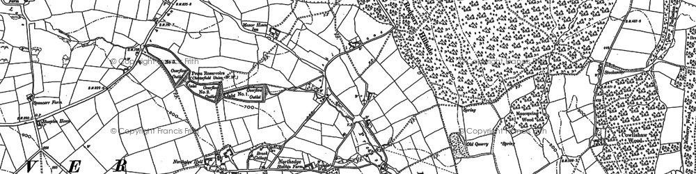 Old map of Northedge in 1879