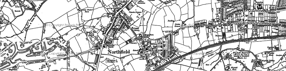 Old map of Northfield in 1882