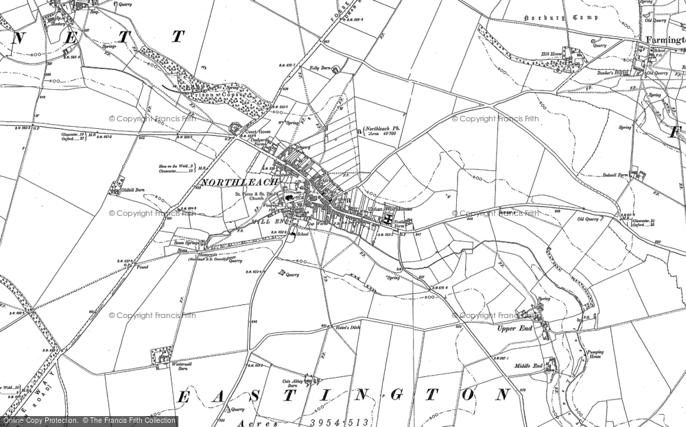 Map of Northleach, 1882 - 1883
