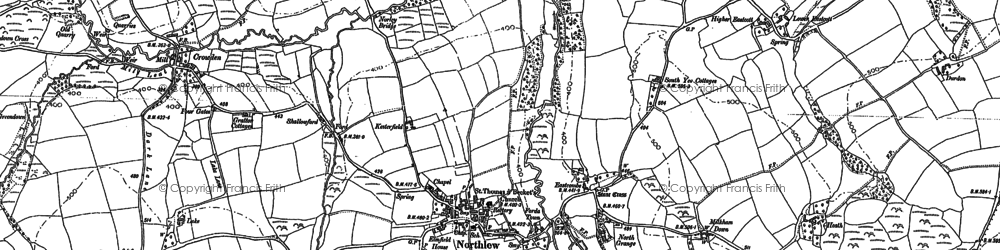 Old map of Worth in 1884