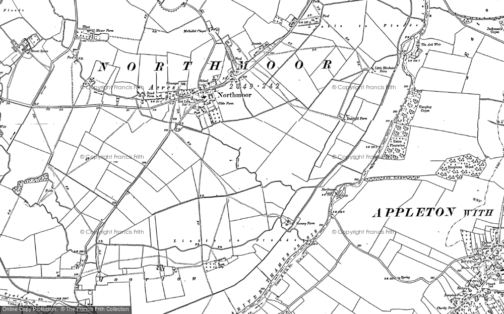 Old Map of Historic Map covering Linch Hill in 1898