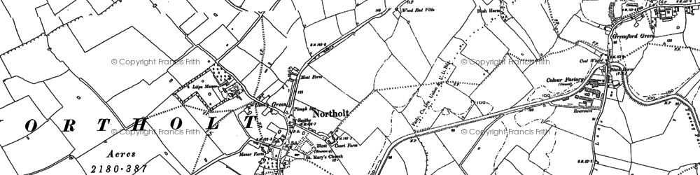 Old map of Northolt in 1894
