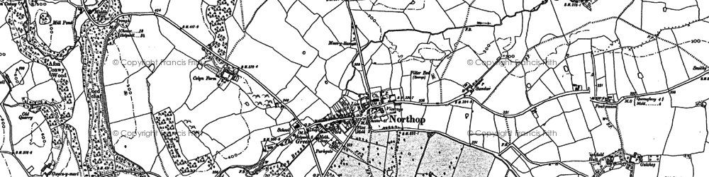 Old map of Northop in 1898