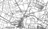 Old Map of Northover, 1885