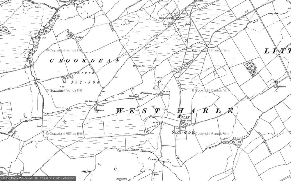 Old Map of Historic Map covering Larkhall in 1895