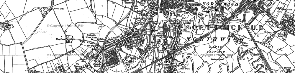 Old map of Northwich in 1897