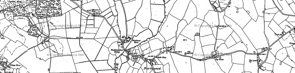 Old map of Woodlands, The in 1880