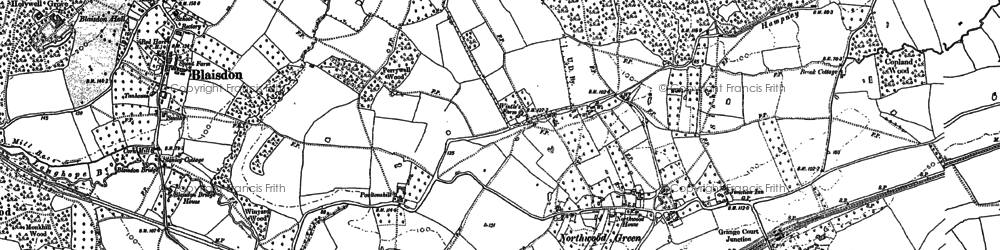 Old map of Ley Park in 1879