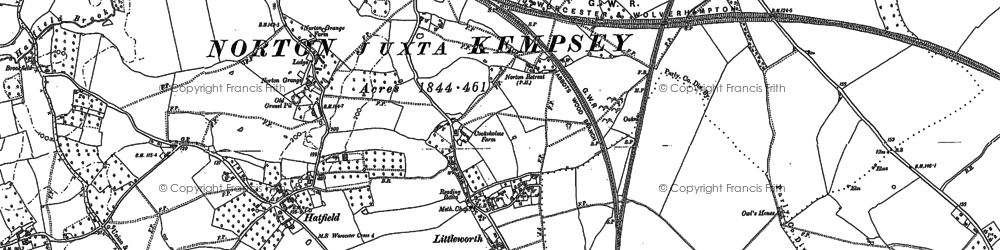 Old map of Norton in 1884