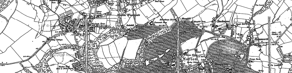 Old map of Norton in 1897