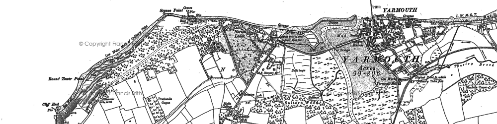 Old map of Norton in 1907