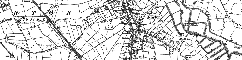 Old map of Norton in 1913