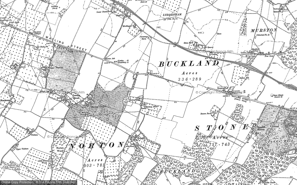 Old Map of Norton Ash, 1896 in 1896
