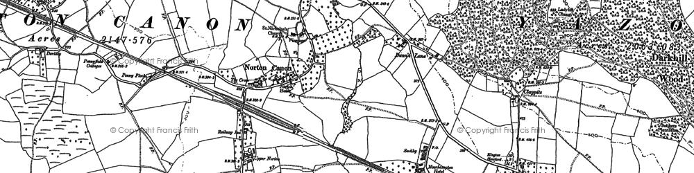 Old map of Darkley in 1886