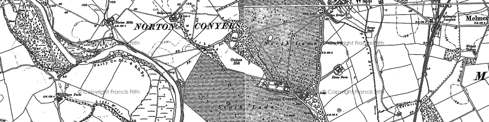 Old map of Wilderness Wood in 1890