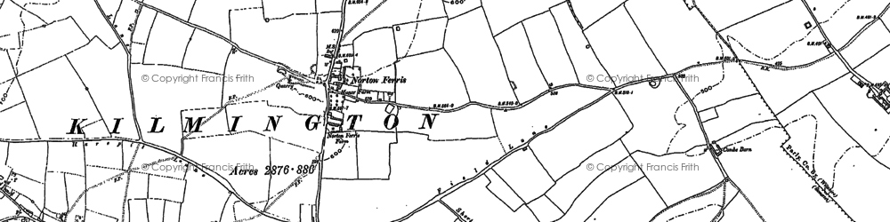 Old map of White Sheet Downs in 1900