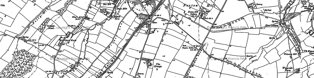 Old map of White Post in 1884